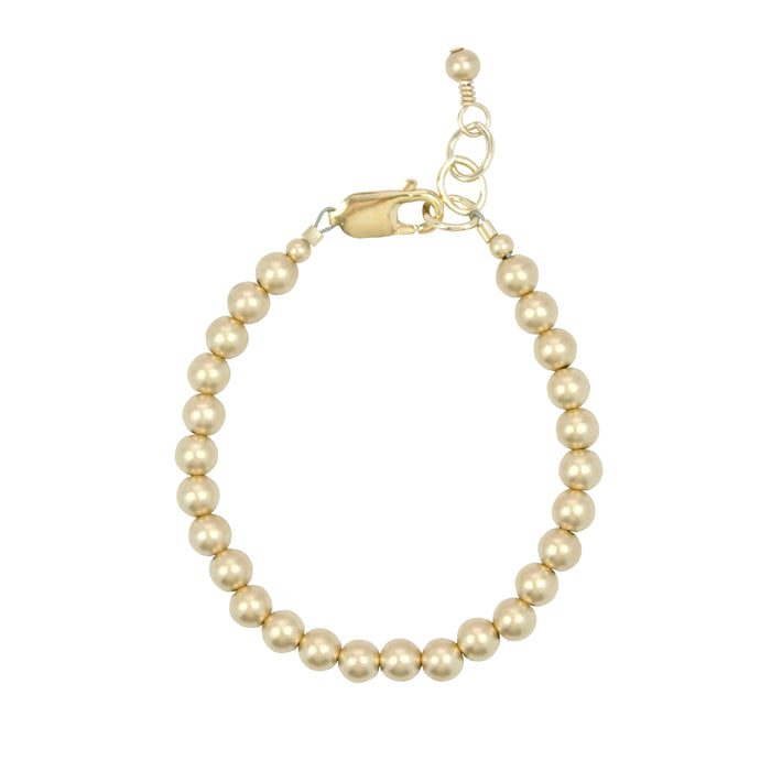 Gold {matte} Adult Bracelet (5MM beads)