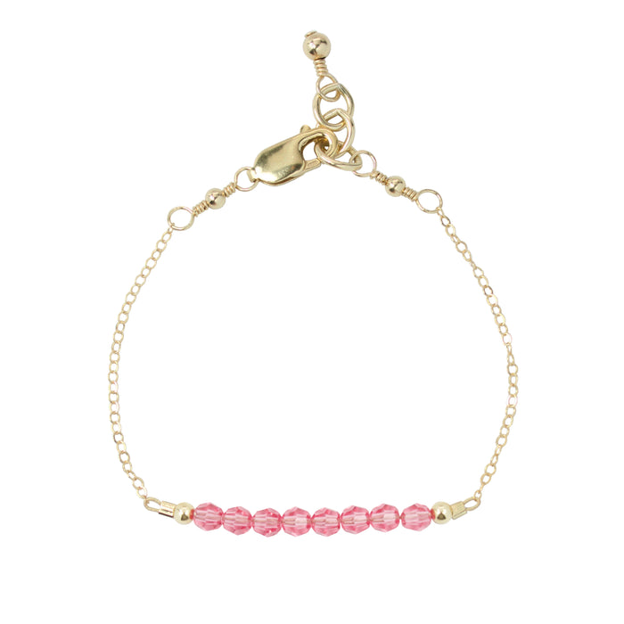 October Adult Chain Bracelet (4MM beads)