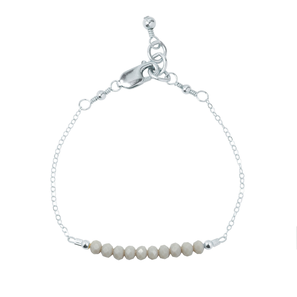 Pewter Adult Chain Bracelet (4MM beads)
