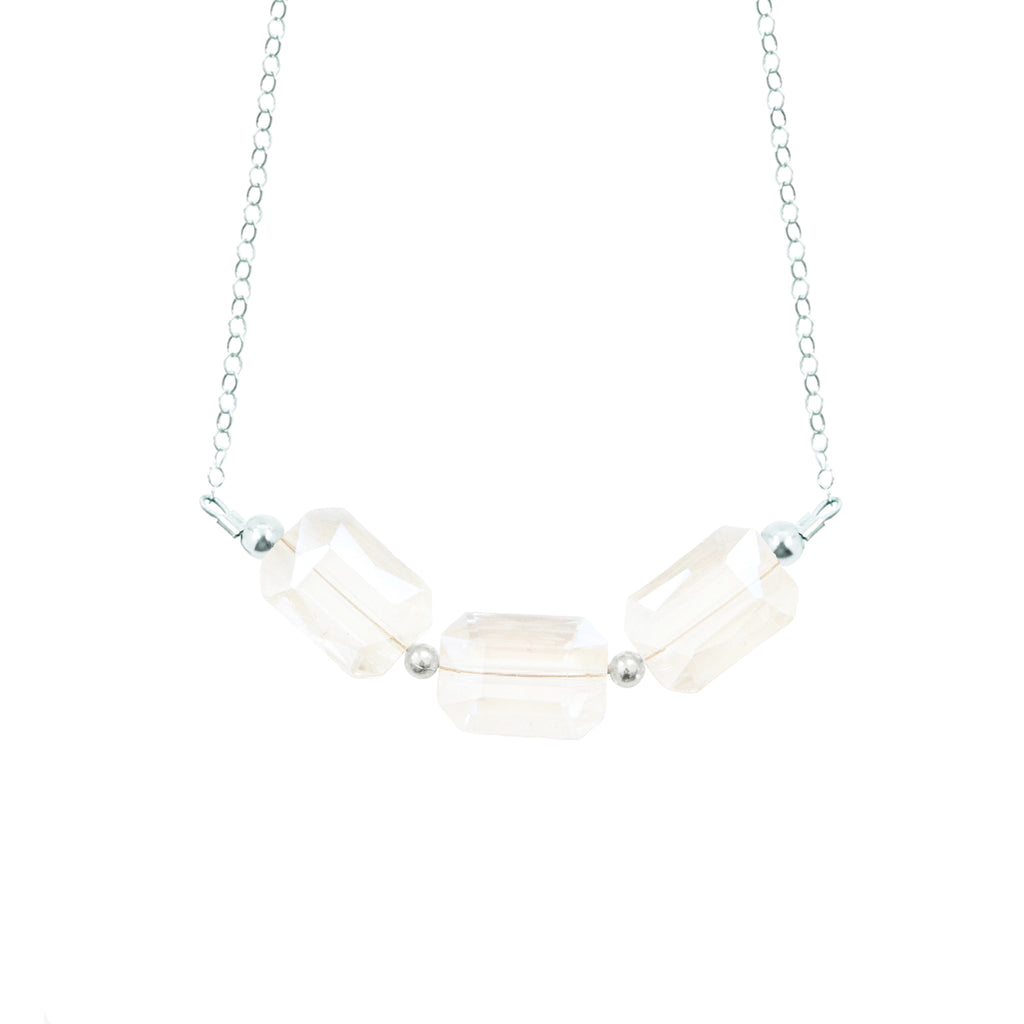 Rectangle Crystal Necklace