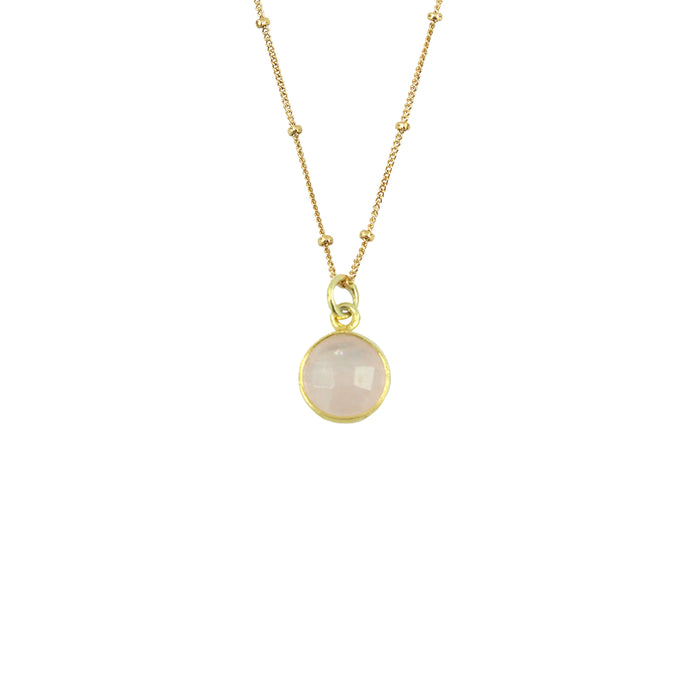 Rose Quartz Necklace (Round)