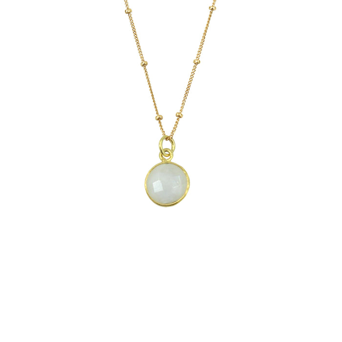 Rainbow Moonstone Necklace (Round)