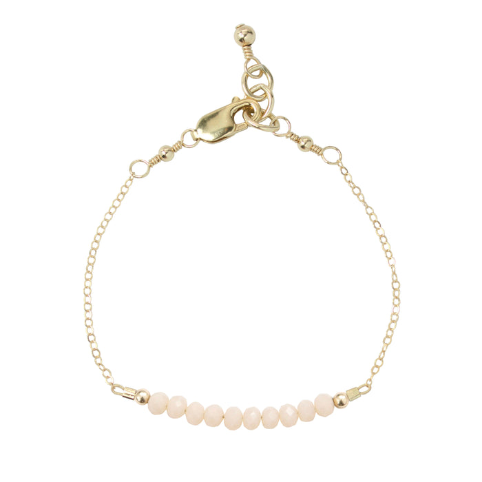 Seashell Adult Chain Bracelet (4MM beads)