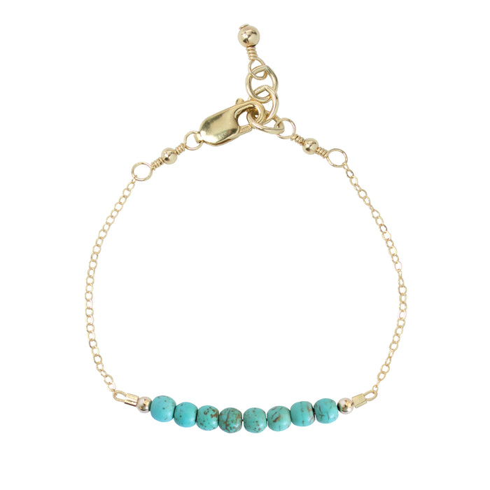 Turquoise Adult Chain Bracelet (4MM beads)