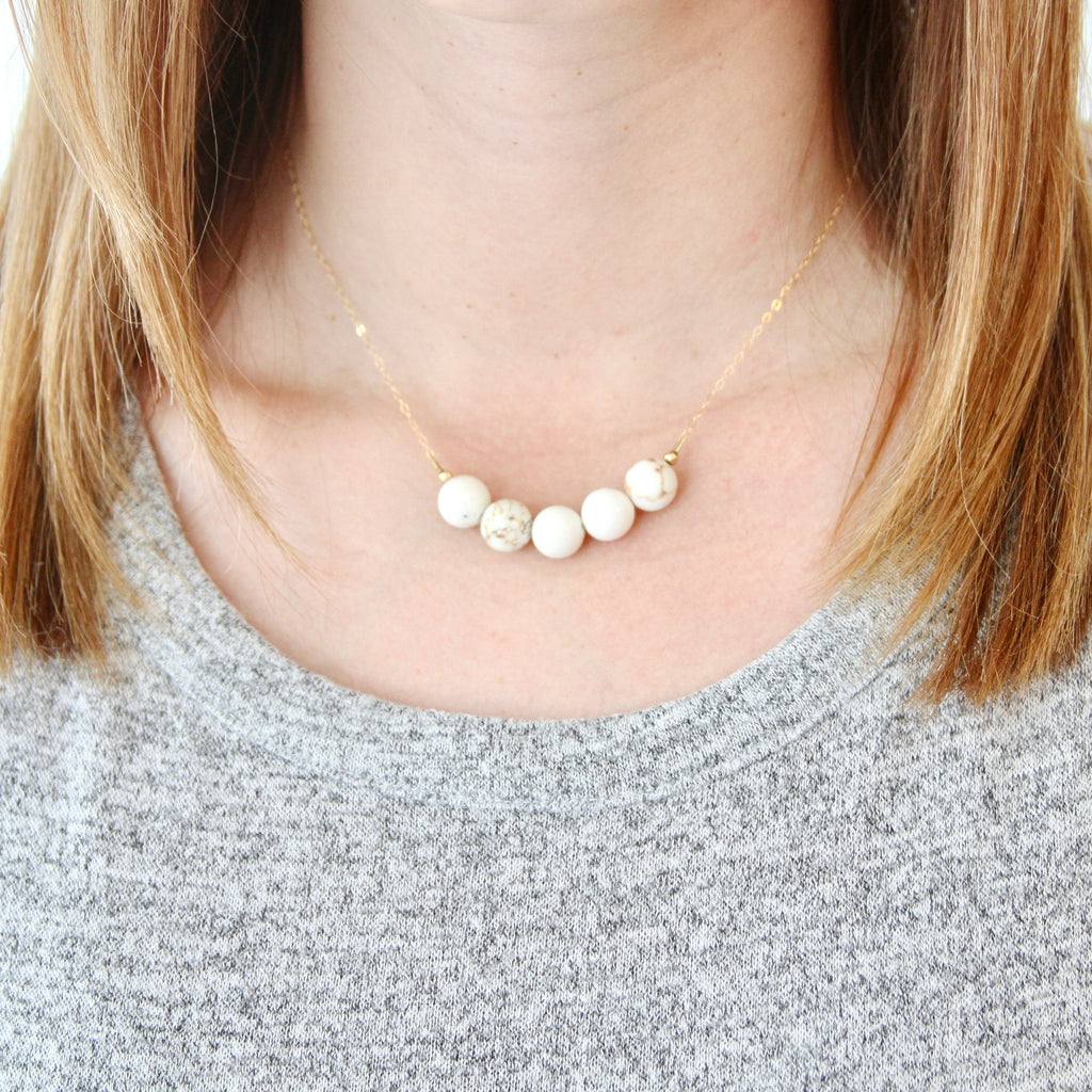 Eggshell Stone Necklace