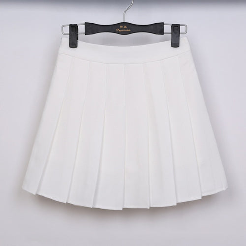 Spring High Waist Pleated Skirt