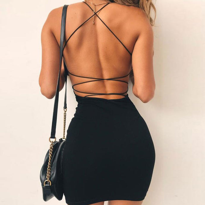 Brynn Backless Bodycon Dress - Flowers&Gold dress Love and luxury, Luxury street style