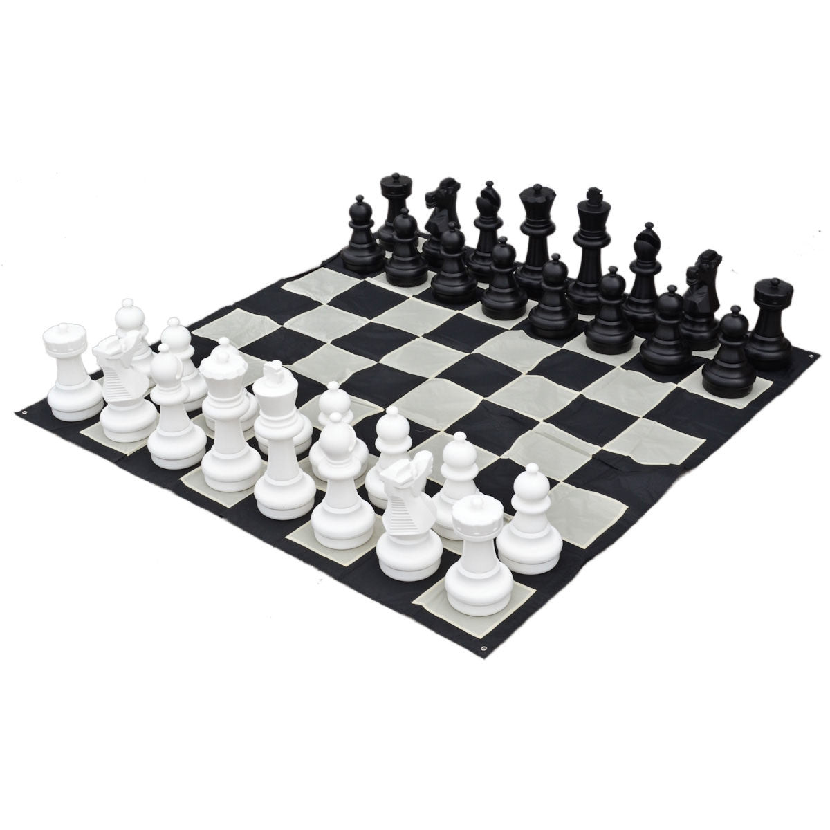 "25"" Indoor and outdoor Giant Chess Set with Nylon Board"