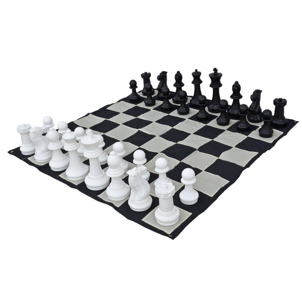 "16"" Indoor / Outdoor Garden Chess Set with Nylon Board"