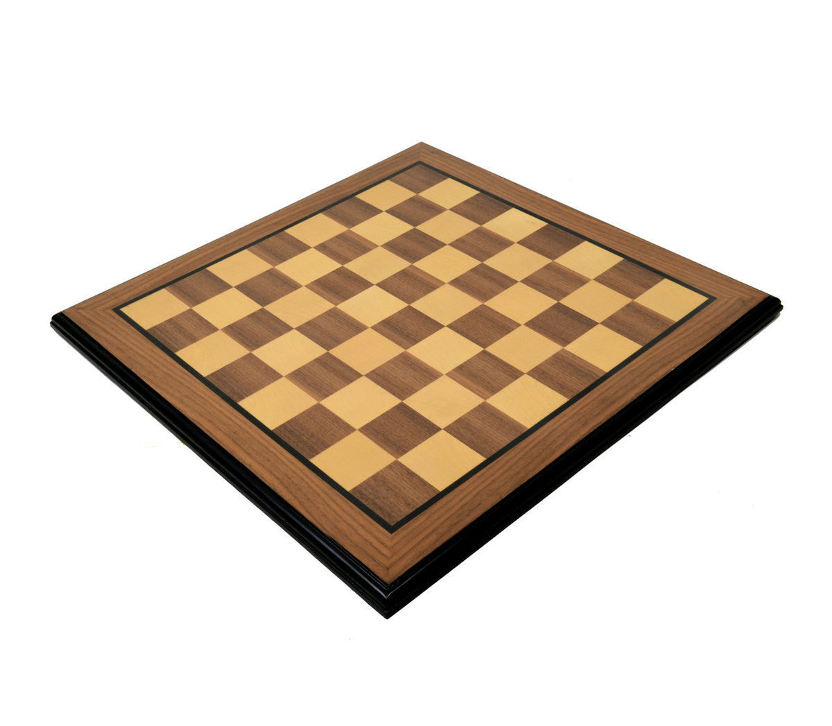 "Walnut & Maple Chess Board with 2"" Squares"