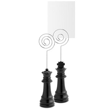 Royal Couple Black Chess Photo Holder