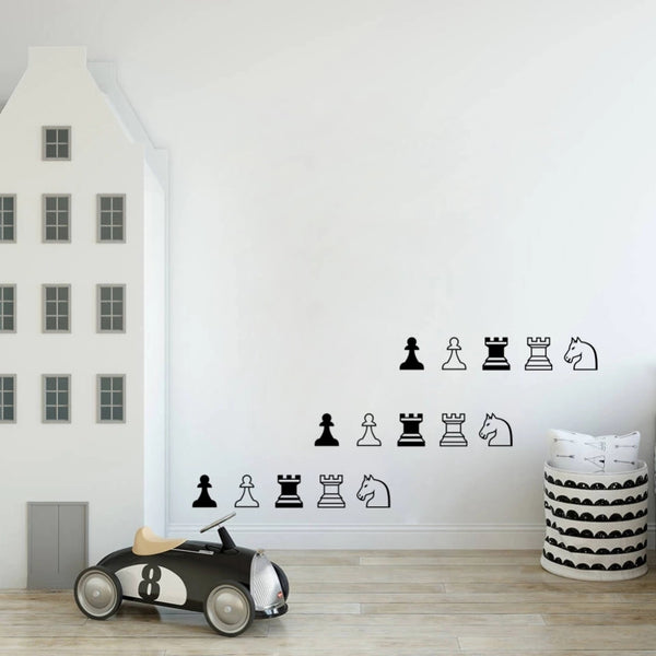 Chess Rook Knight Pawn Wall Decoration Vinyl art