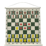 "36"" Wall hanging Chess Demo Board with Clear Pieces and Bag"