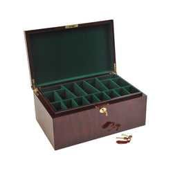 Chess Large Elegant Bubinga wood Coffer Chess Box Felt-lined