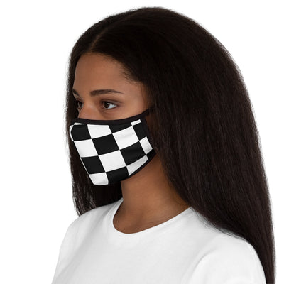 Chess board squares Fitted Polyester Face Mask