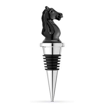 Chess Knight Chrome Bottle Stopper