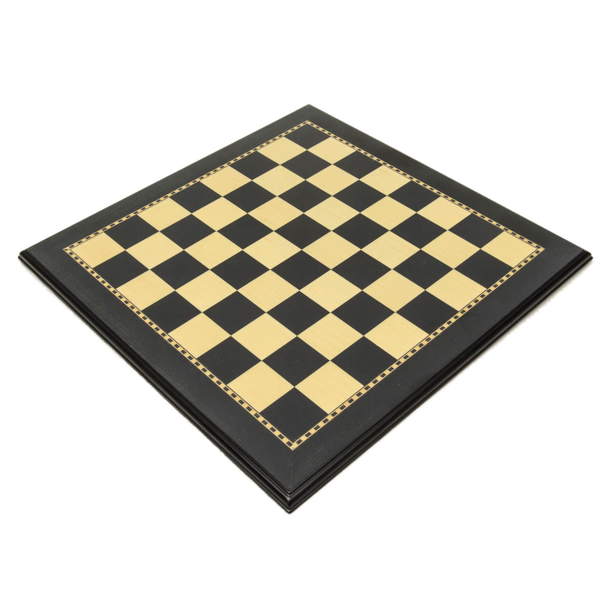 "Black & Maple Wood Chess Board with 2"" Squares"