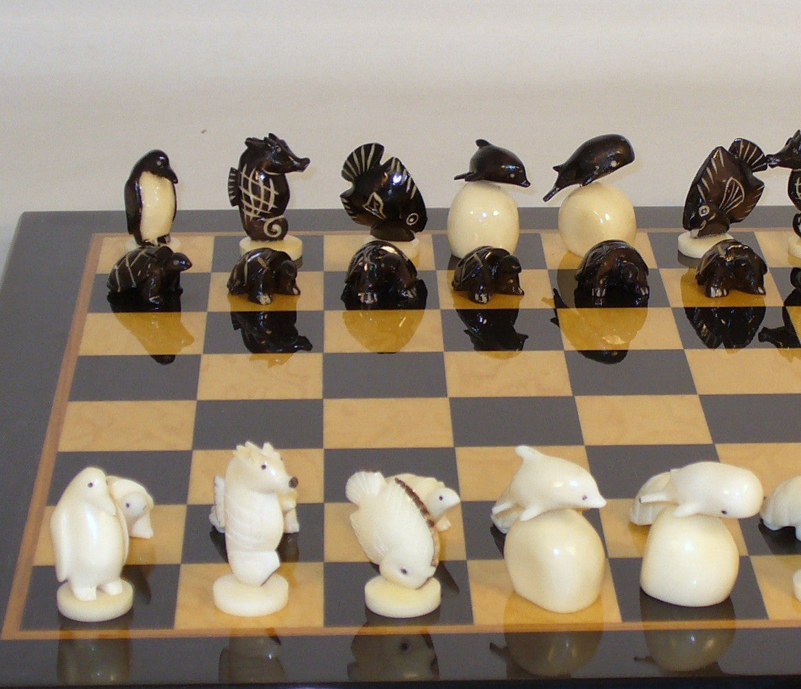 Tagua Turtles on Black Madrona Glossy Board