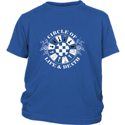 Circle of life and death - Youth chess T-shirt