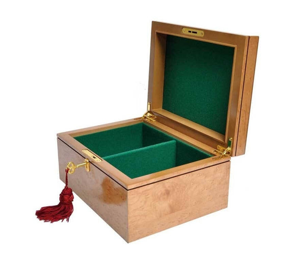 Chess Large Elegant Bubinga Wood Coffer Chess Box Felt