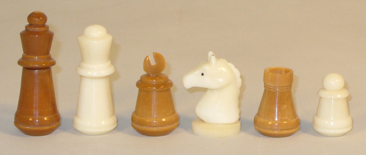 Staunton Tagua Nut Brown & White Chess Pieces