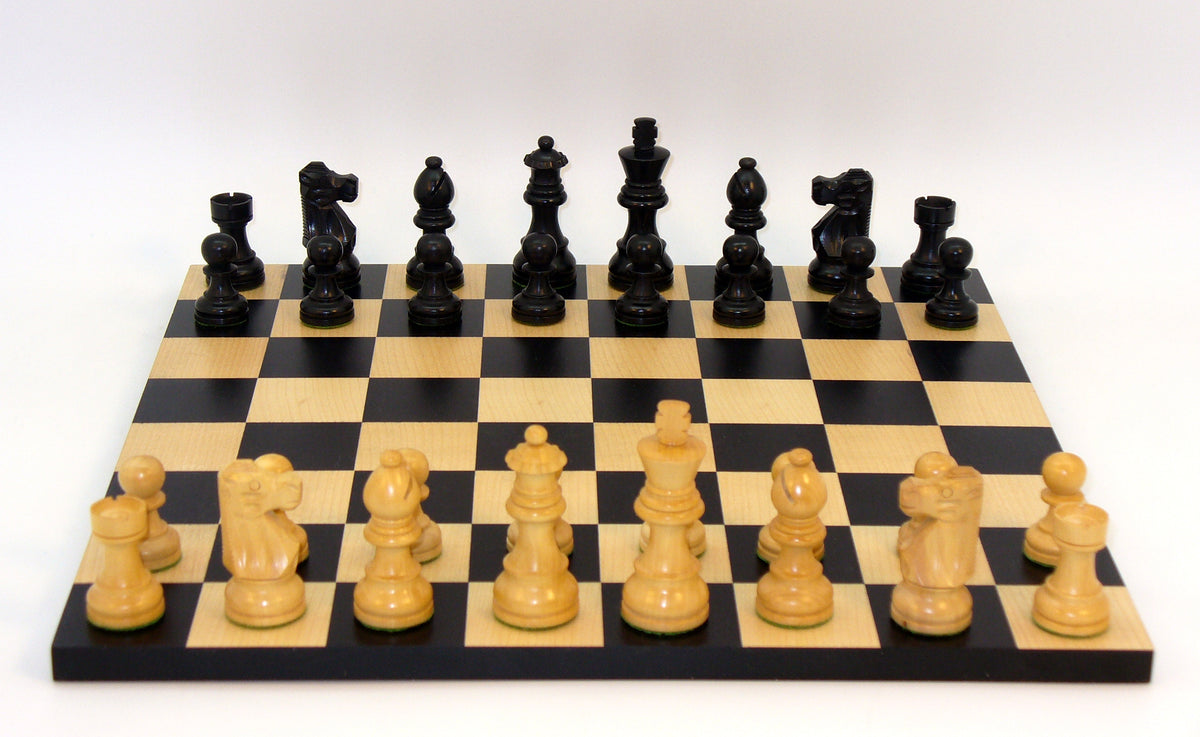 Small Black French Chess Set