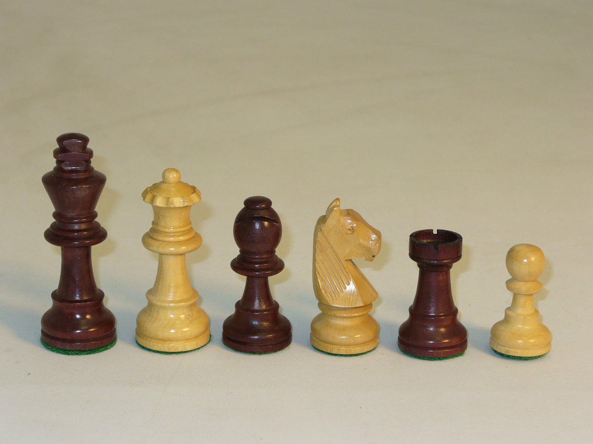 Walnut stained German Chess Pieces