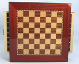 Rosewood Square Chest with Walnut / Maple Chess Board