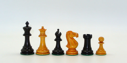 Black and Antiqued Boxwood Chess Pieces