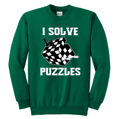 I Solve Puzzles - Rubick's Cube and Chess - Unisex Sweatshirt