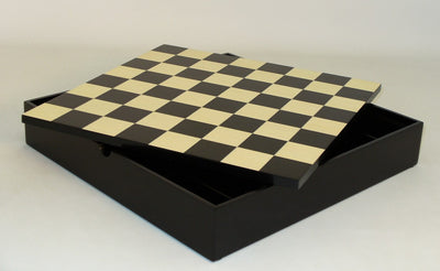 Black Maple Veneer Chess Board and Chest