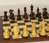 Rosewood American Classic Chess PIeces with Dark Rosewood Board