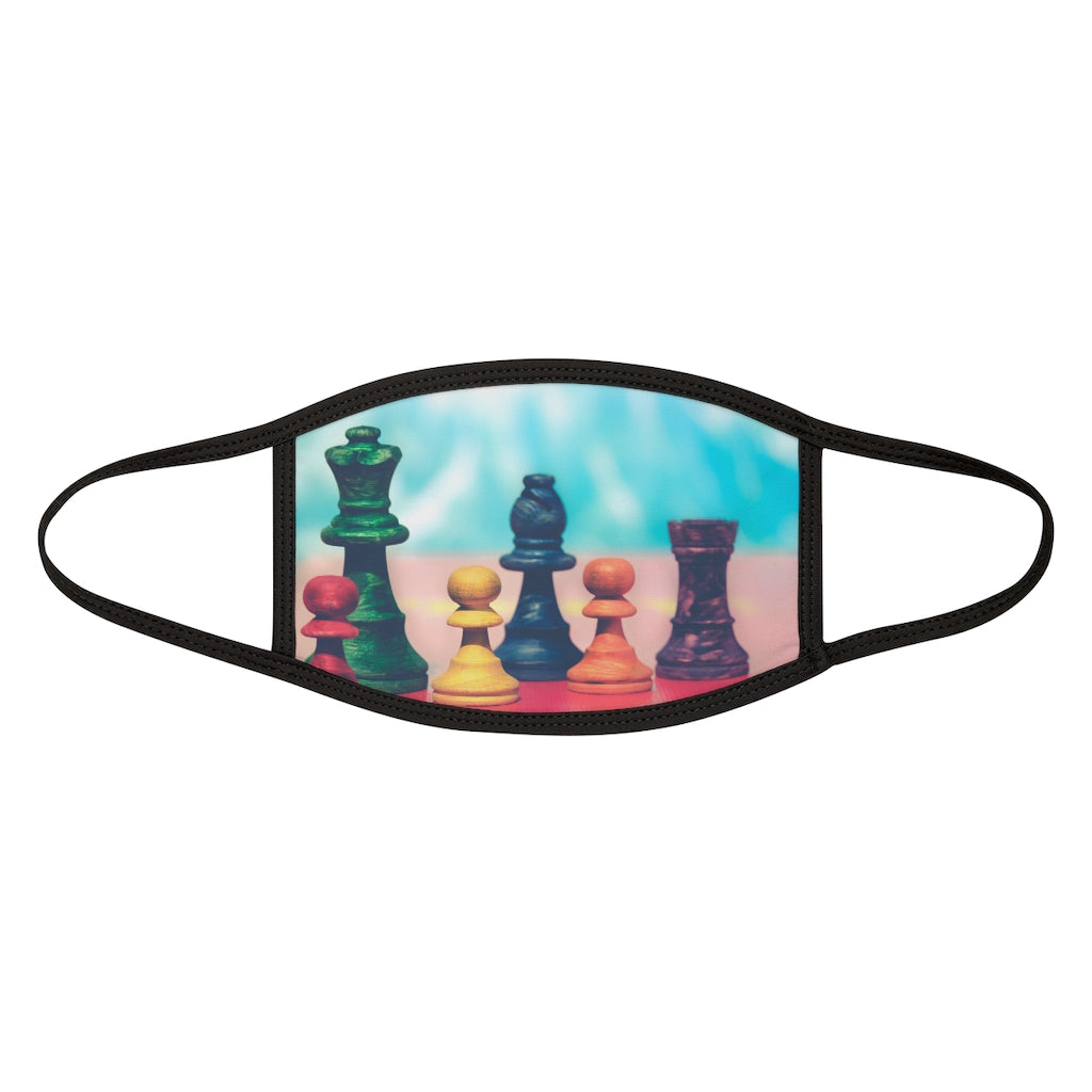 Colorful Chess pieces Mixed-Fabric Face Mask