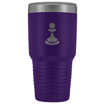 Laser etched Pawn 30 Ounce stainless steel Vacuum insulated hot and cold beverage Tumbler