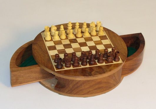 Round Drawer Magnetic Chess