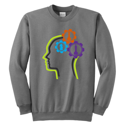 Chess in the mind - Chess Gears - Youth Creneck Sweatshirt