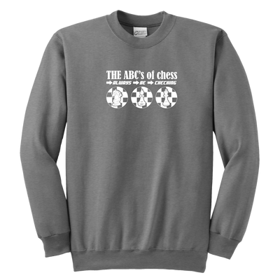 The ABC's of Chess - Always Be Checking - Youth Unisex Sweatshirt