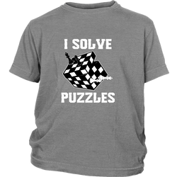I solve puzzles - Youth chess T-Shirt