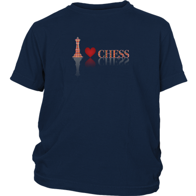 I heart Chess - I love Chess plaid reflective design - Youth T-Shirt