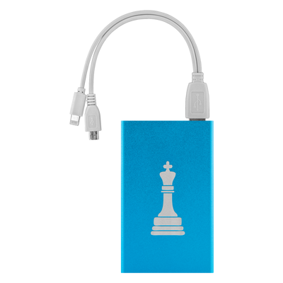 Chess King laser etched Lithium-Ion power bank