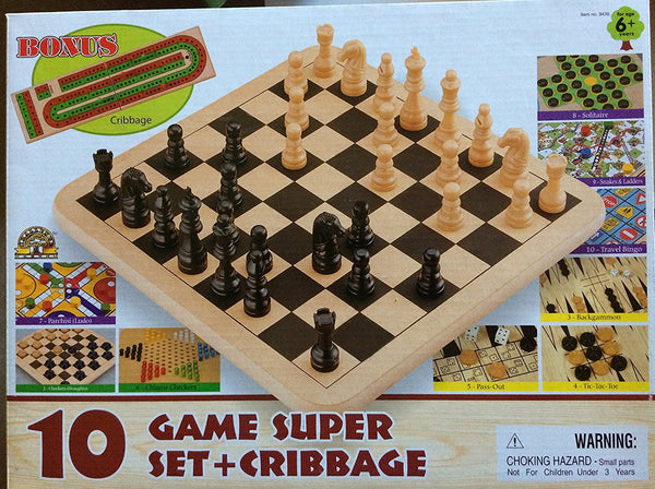 10 Game Super Set + Cribbage