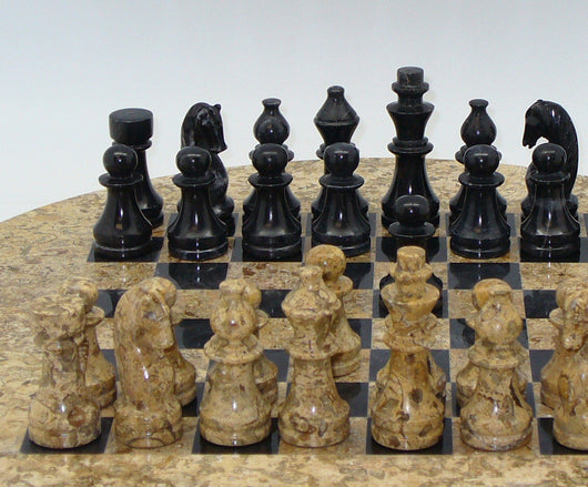 Round Marble Chess Set