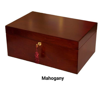 Chess Large Elegant Wood Coffer Storage Box Felt-lined