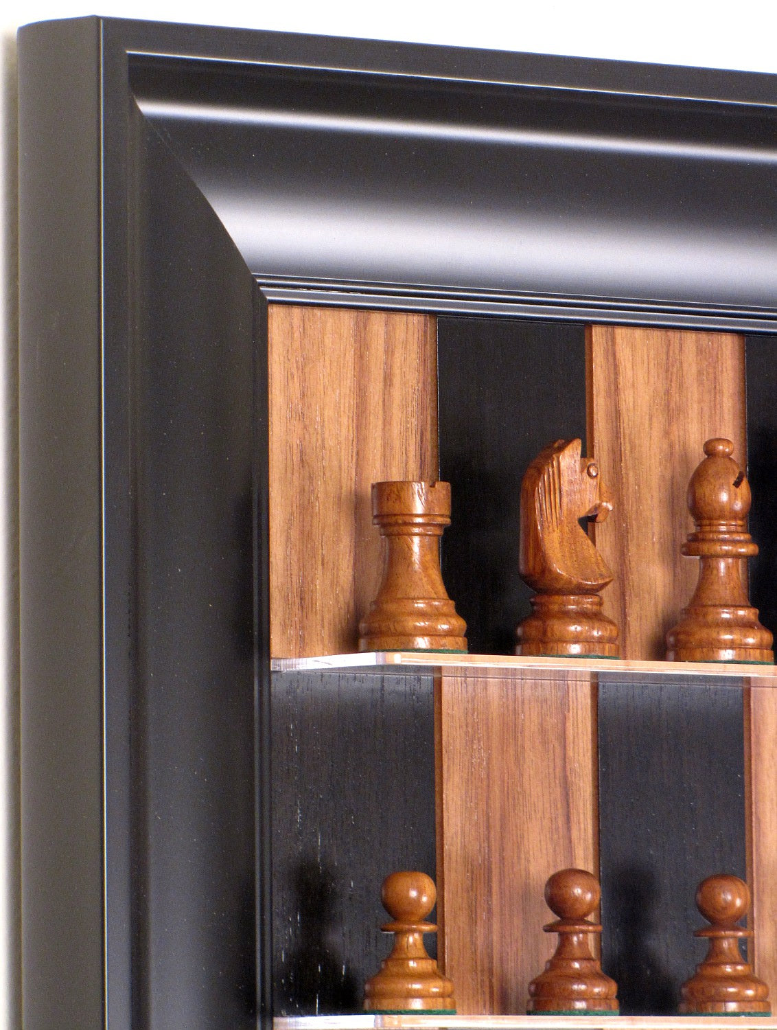 All Black Combo - Walnut board with Contemporary Frame