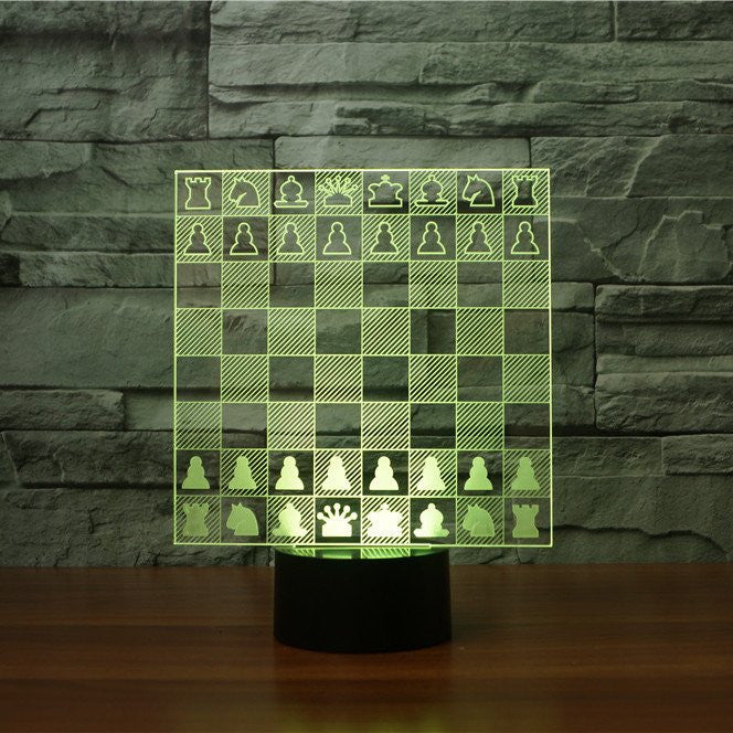 Three Dimensional Chess Game LED Art Lamp
