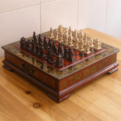 Terra-Cotta Warriors Chess Set with Decorative Storage