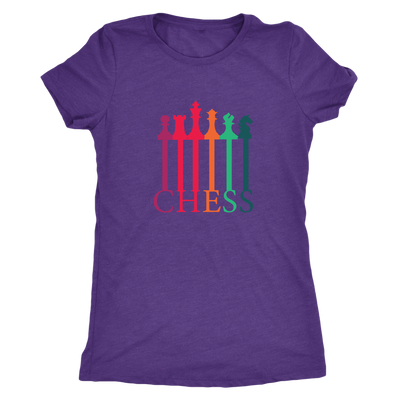 Chess connecting Pieces spectrum - Triblend T-Shirt