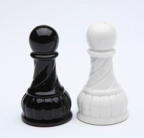 Pawn Salt and Pepper Set - Black and White