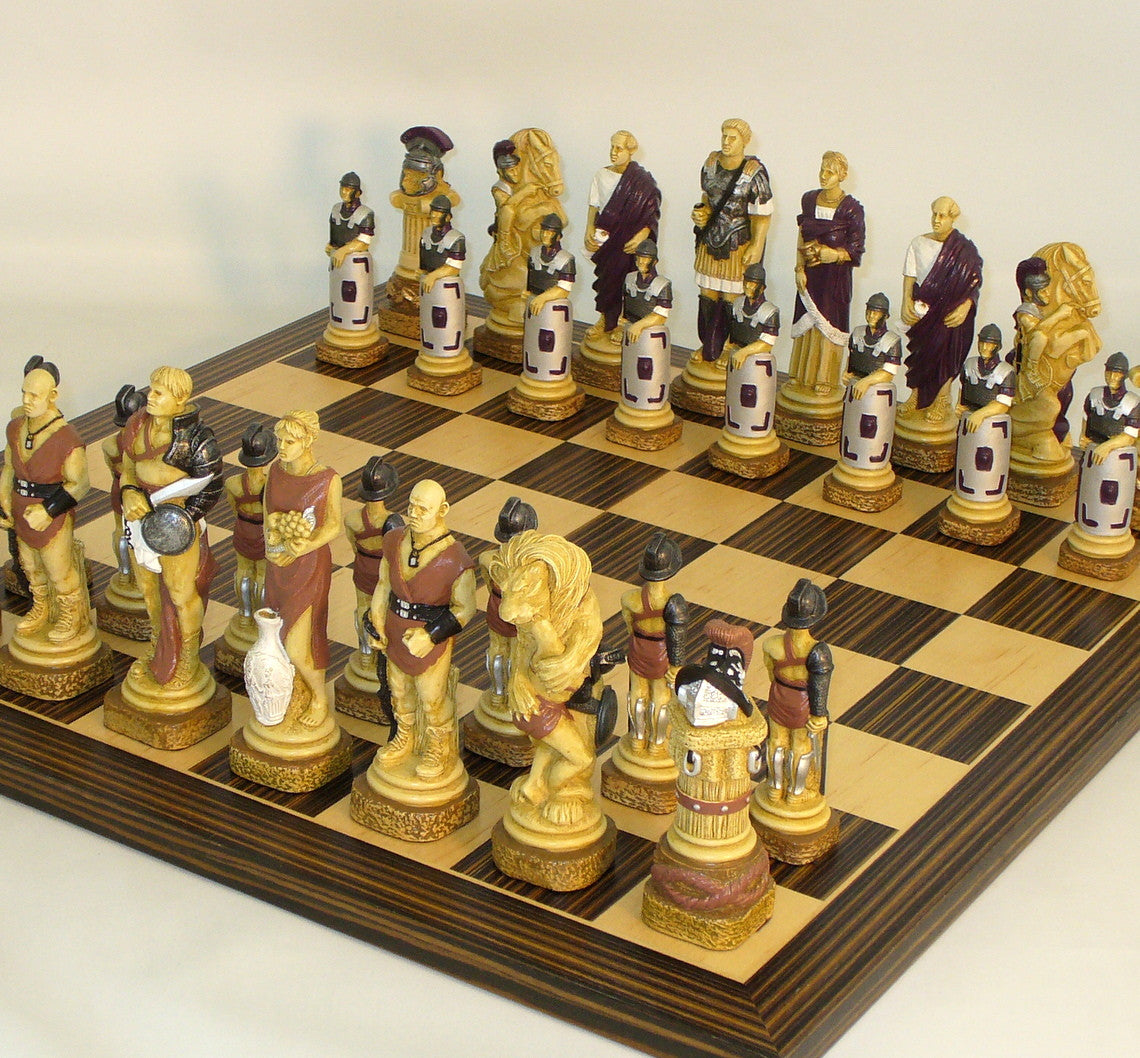 Spartacus Resin-Ebony Chess Set