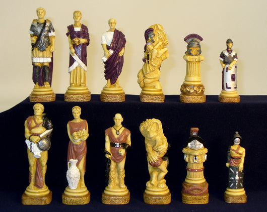 Spartacus Painted Resin Chess Pieces
